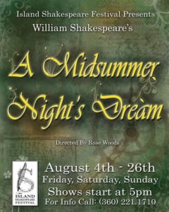 Spokane Civic Theatre Island Shakespeare Fest Poster
