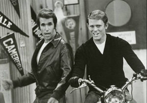 Richie & Fonzie from the Happy Days TV Series