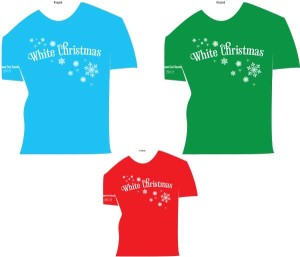 Cast and Crew t-shirts White Christmas Spokane Civic Theatre