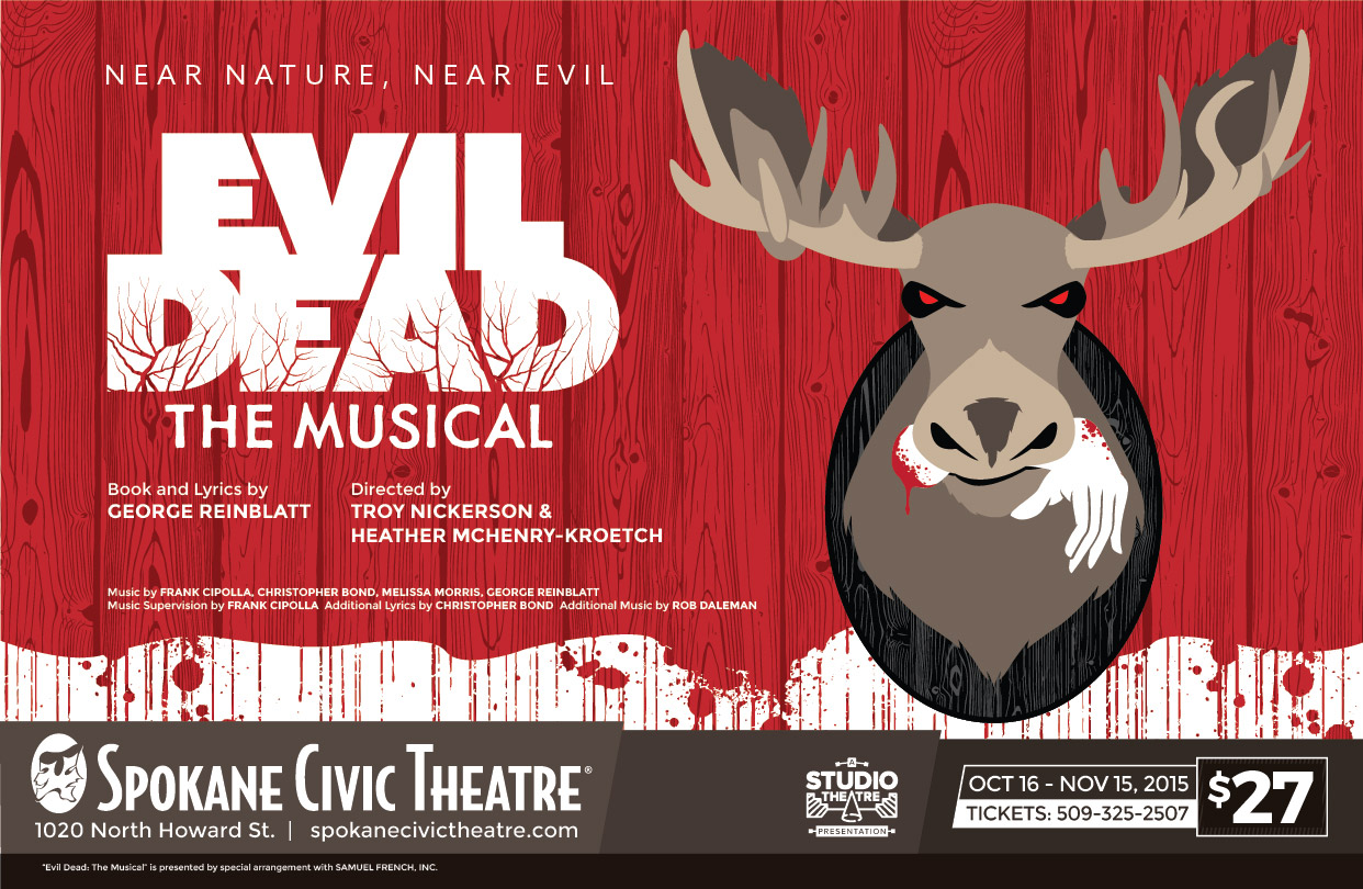 Evil Dead: the Musical poster
