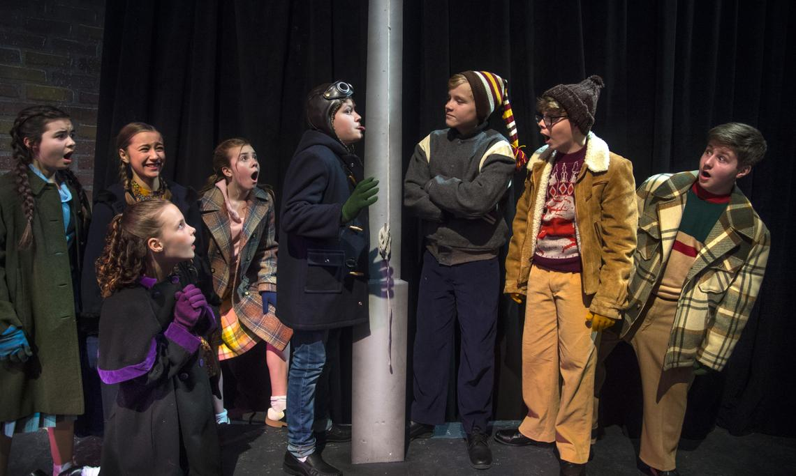 review young performers shine in spokane civic theatres a christmas story the musical - A Christmas Story Musical